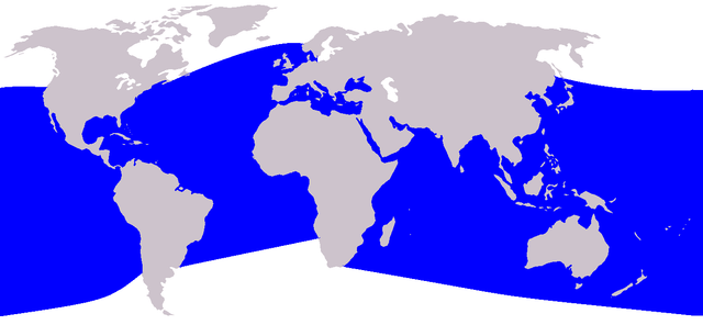Dolphin Habitat Map - Map Of Where Dolphins Live