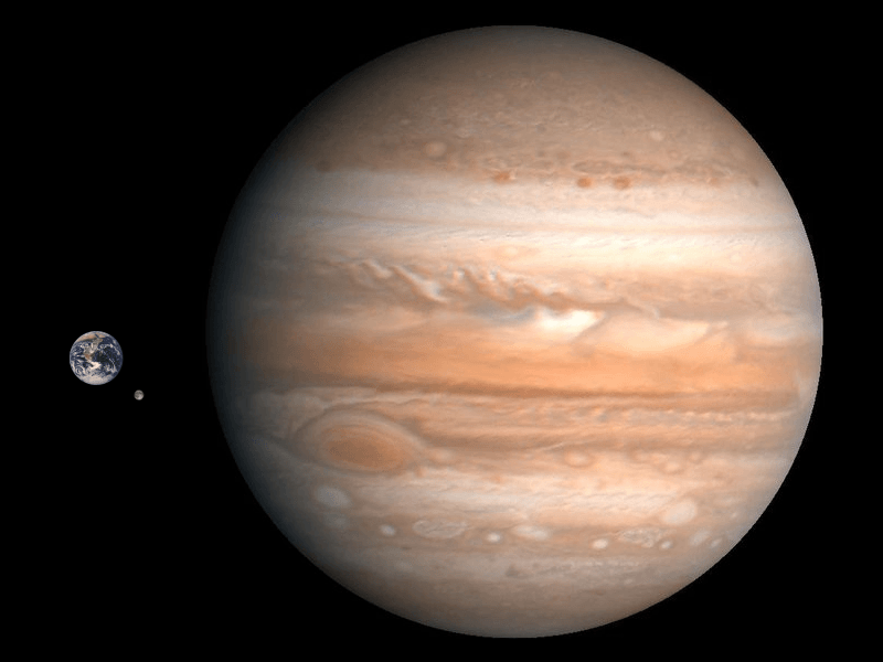 How Large Is Jupiter Compared To Earth