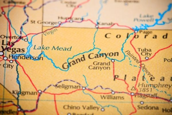 The Grand Canyon map facts